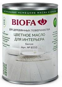 8510 Белый, масло для интерьера BIOFA